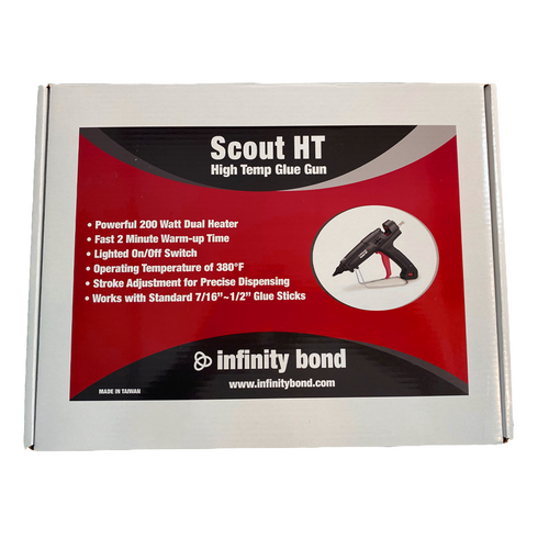 Infinity Bond Scout HT High Temperature Hot Melt Glue Gun Packaging