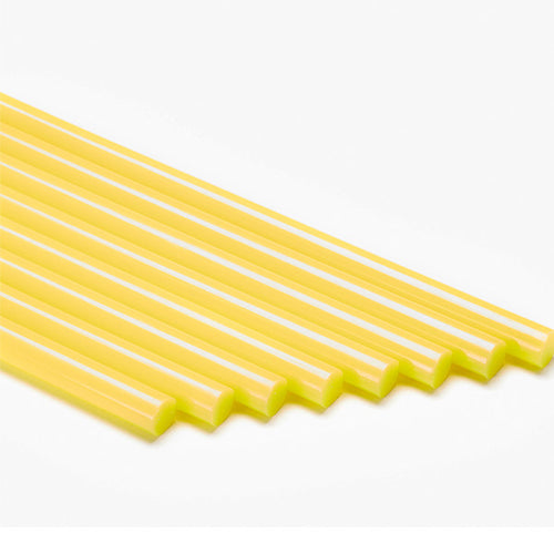 Yellow colored glue sticks