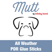 Mutt by Infinity Bond all weather all temperature pdr glue sticks.