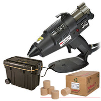 Pneumatic glue gun and adhesive kit for precast concrete