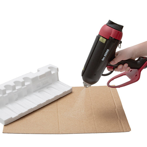 TEC 4500S spray glue gun in use