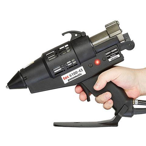 TEC 6100 glue gun being used