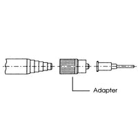 Sulzer Mixpac LA 10-00 black luer lock adapter diagram