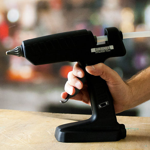 Hybrid 120 glue gun in use