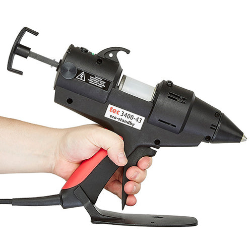 TEC 3400 glue gun being used