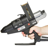 TEC 7300 pneumatic spray glue gun being used