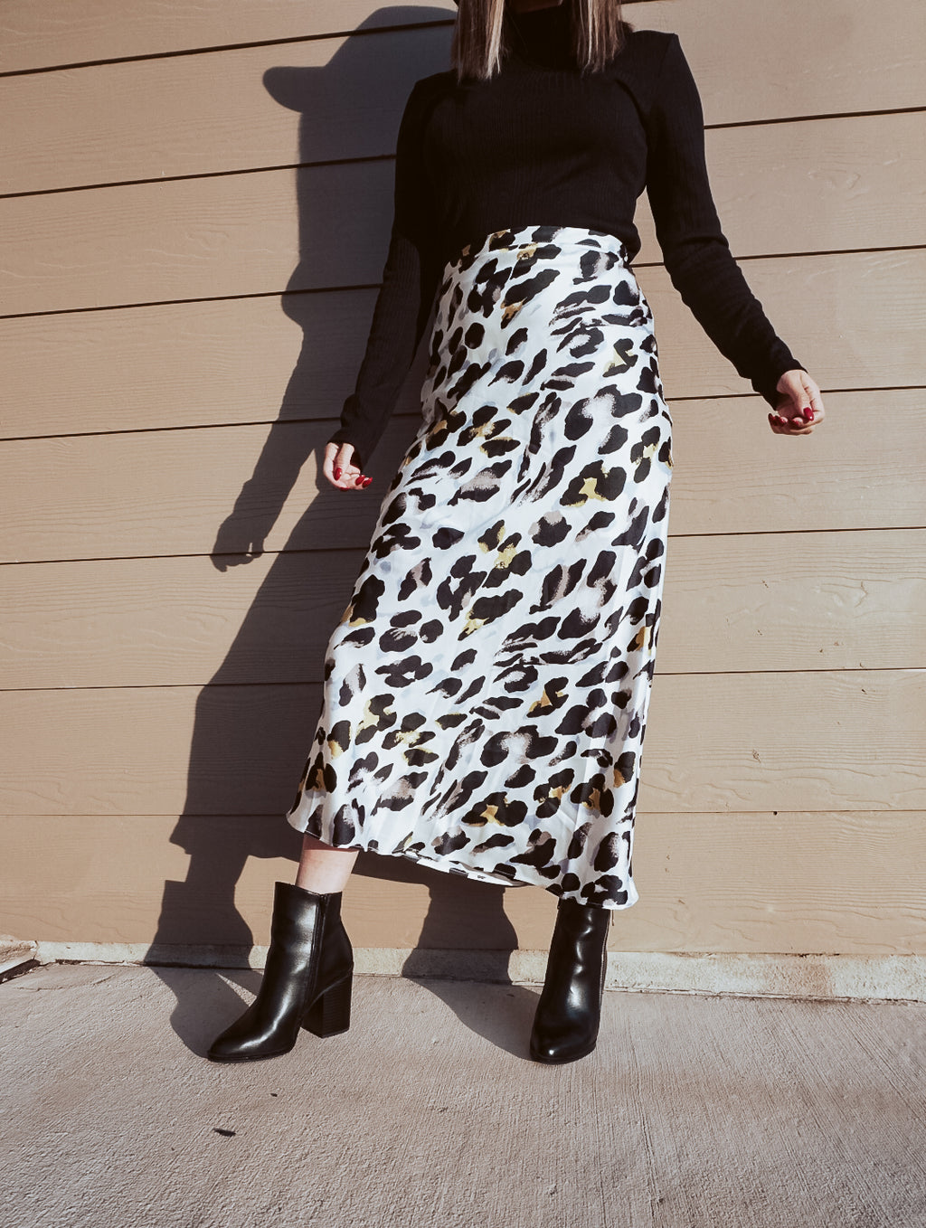 White Cheetah -Skirt