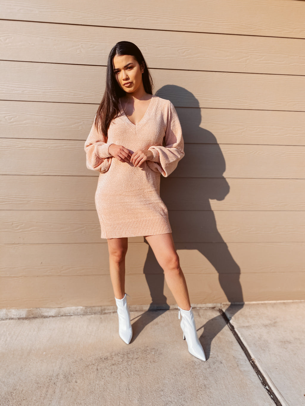 Sweet Peach - Sweater Dress