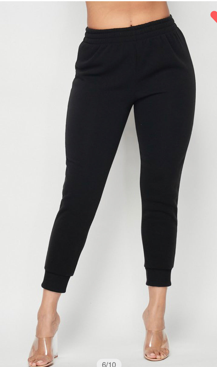 Jogger Sweat Pants - All Black
