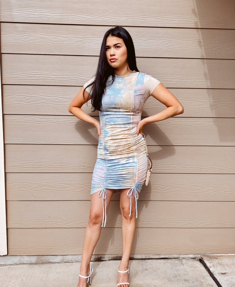 Blue Blush Tye-Dye Dress
