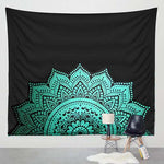 Green on Black Classic Semi Tapestry