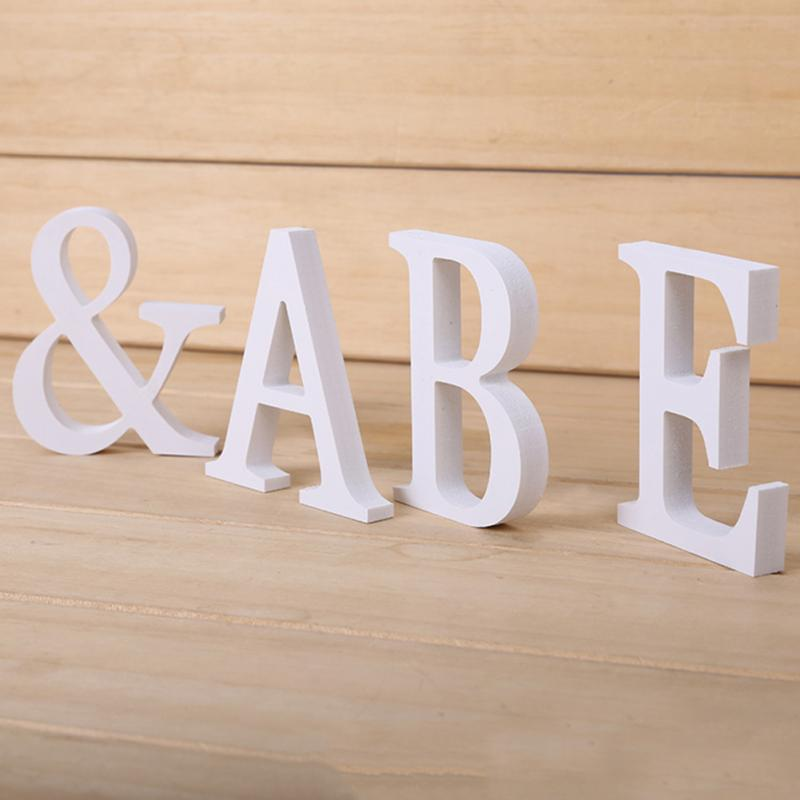 White Wooden Letters