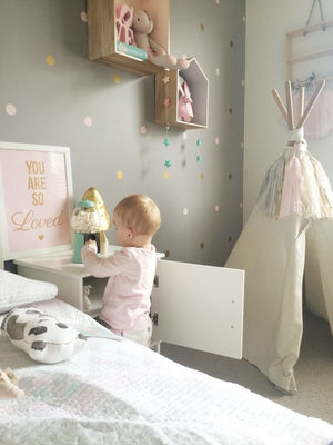 Gold Polka Dot Wall Stickers