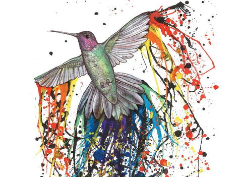 Pride Hummingbird by Leah Day