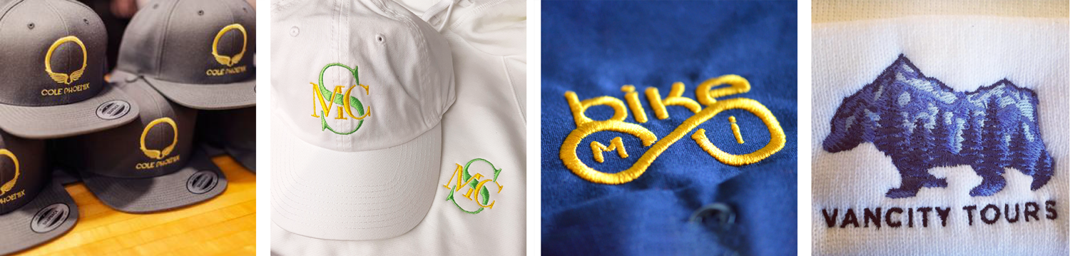 Embroidery digitizing samples