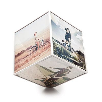 "Spinning Kube 4"" x 4"" Photo Frame"