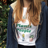 Plants Are My People Make Original White T-Shirt Womens