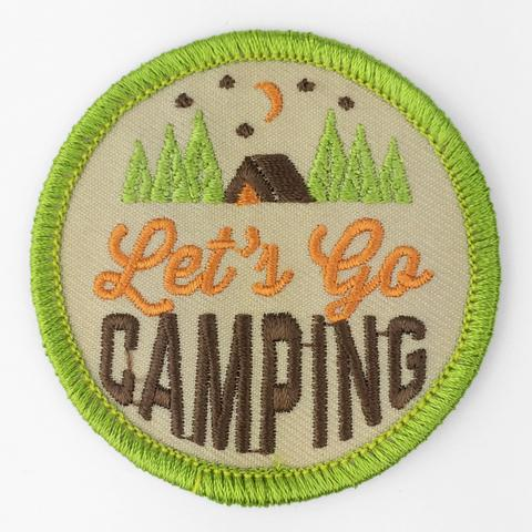 Lets Go Camping Badge Bomb Patch
