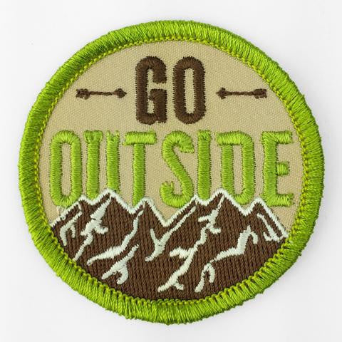 Go Outside Badge Bomb Patch