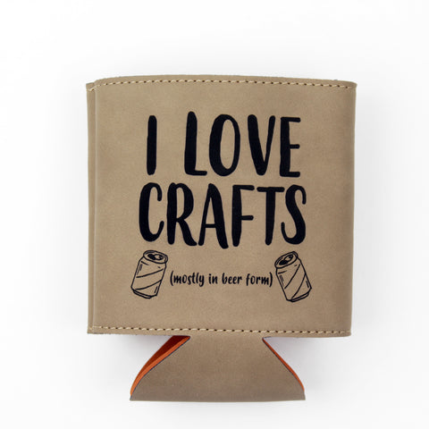 Crafts in Beer Form Vegan Leather Drink Sleeve - Light Brown