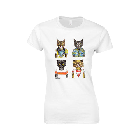 Cats Andrea Hooge Make Original Premium White T-Shirt Womens