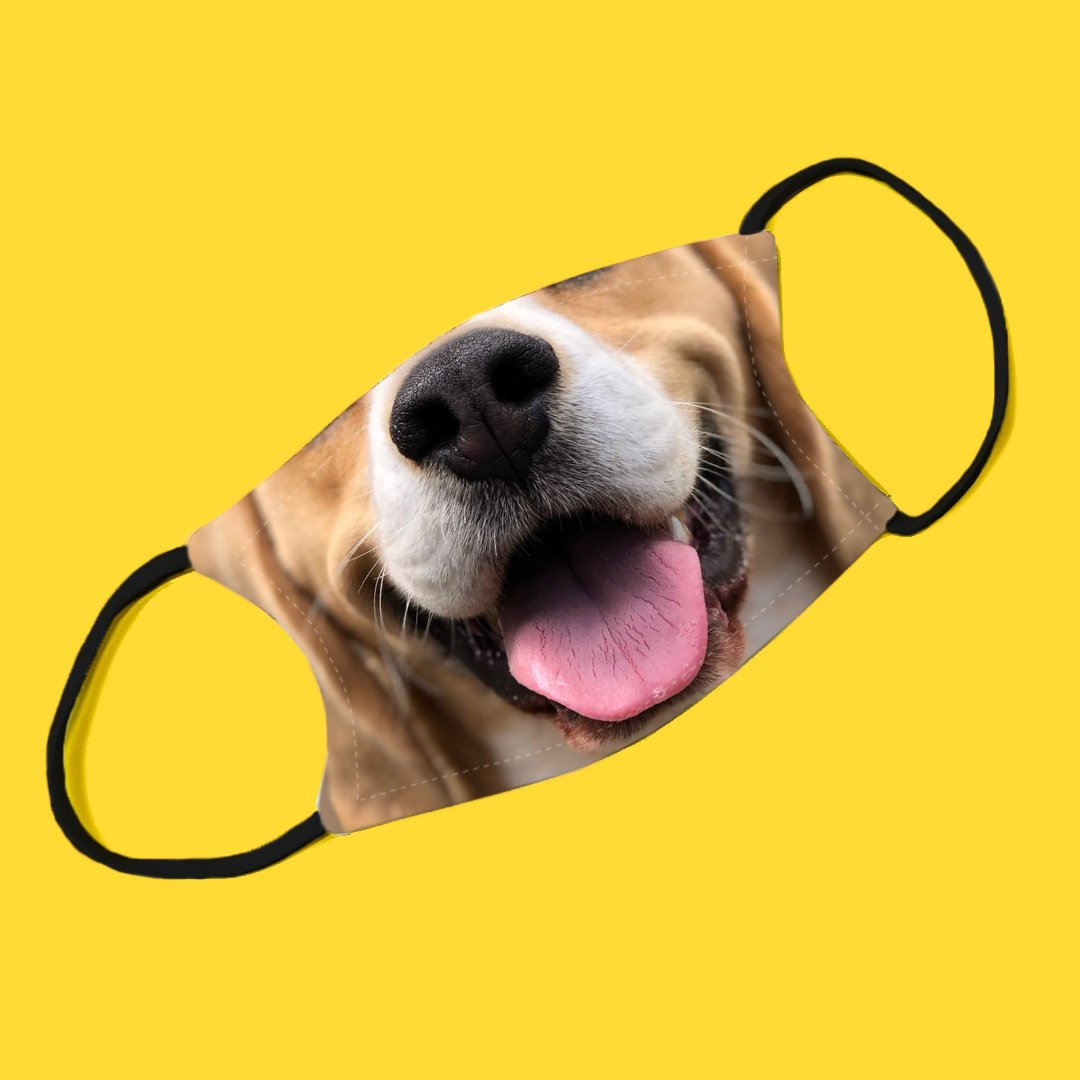 Beagle Adjustable Make Original Face Mask with Filter ADULT