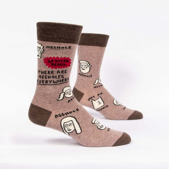 Mens Crew Socks - Assholes Everywhere