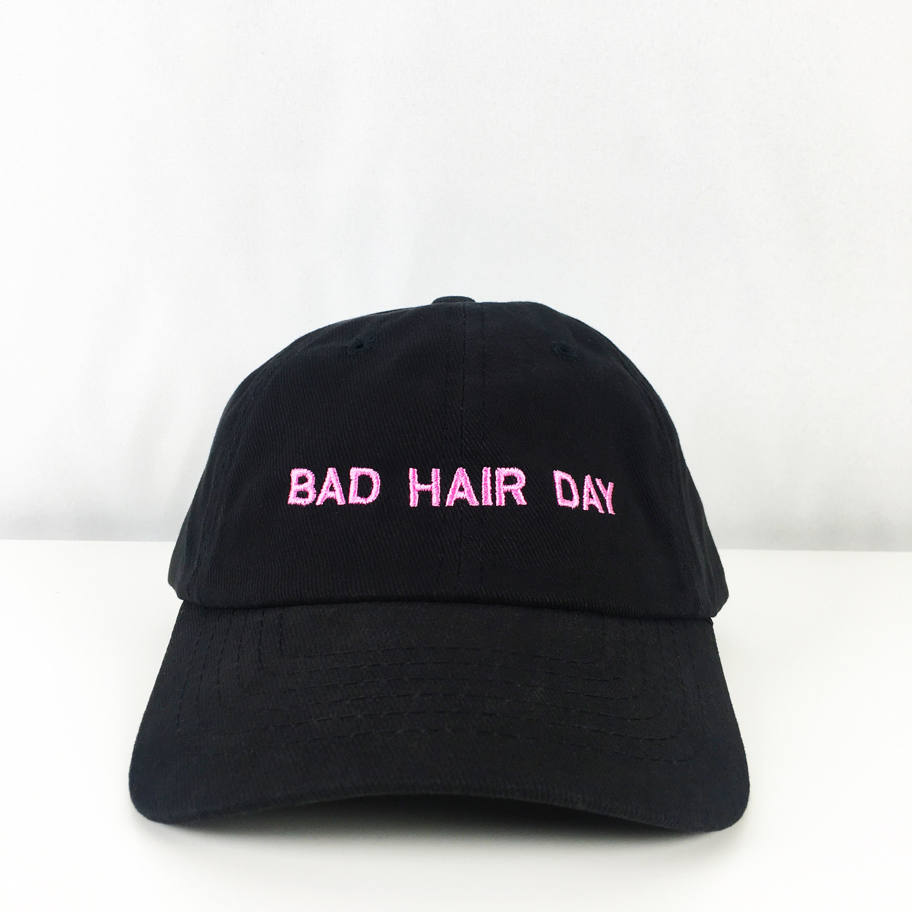 Bad Hair Day Embroidered Basic Cap