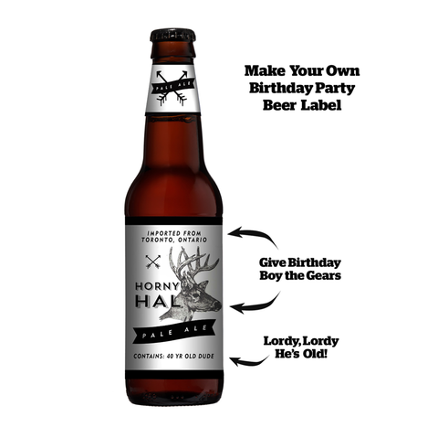 Custom Beer Label Graphic - Personalize the Text!