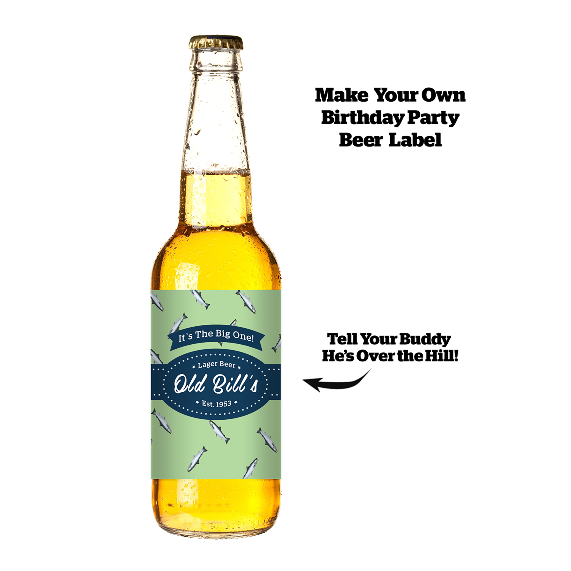 Personalized Beer Bottle Label - For Digital T-shirt Printing!