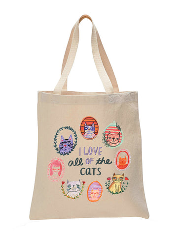 I Love All of the Cats Make Original Natural Tote