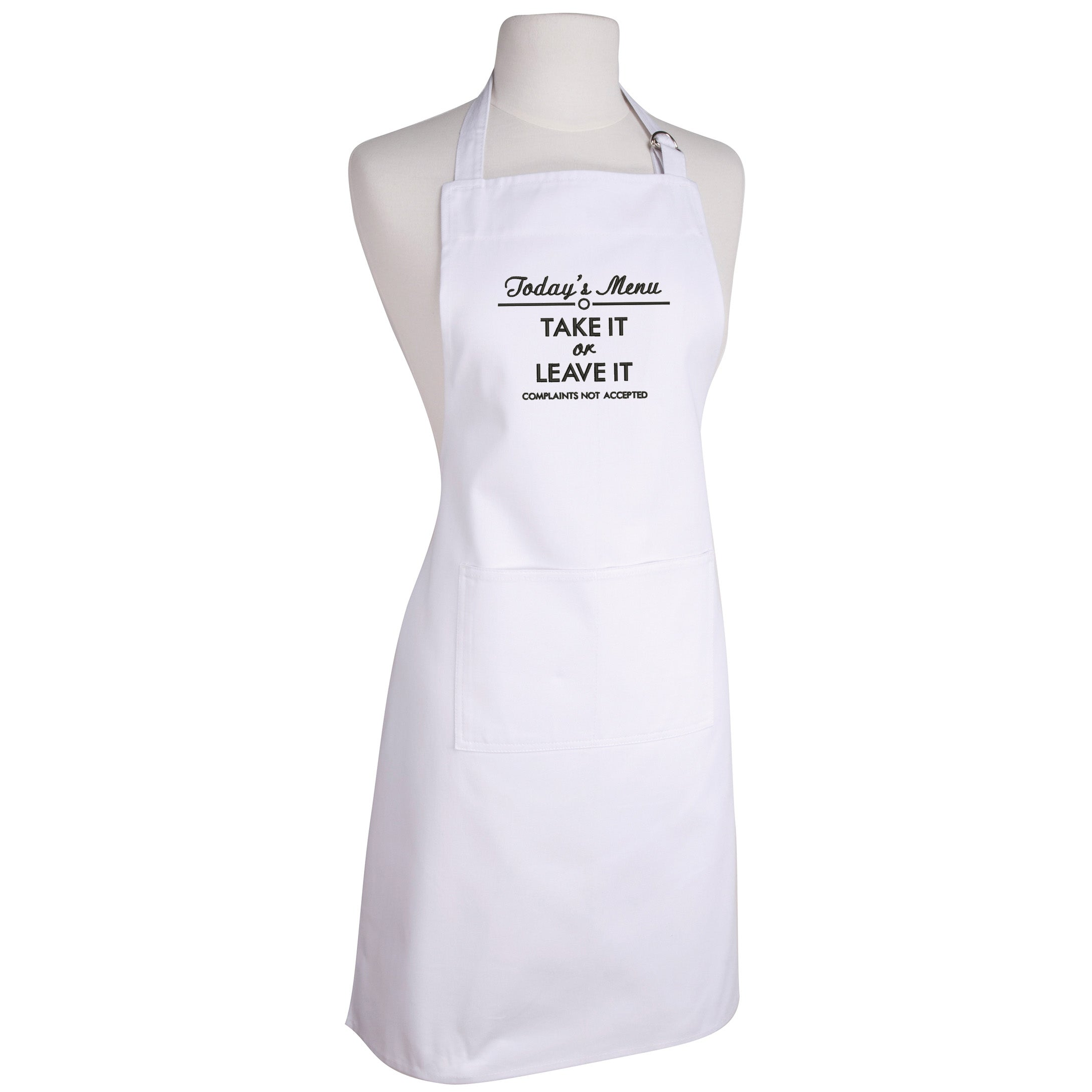 Take It or Leave It Make Original White Apron