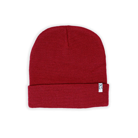 XS Unified Wool Cuffed Beanie - Crimson