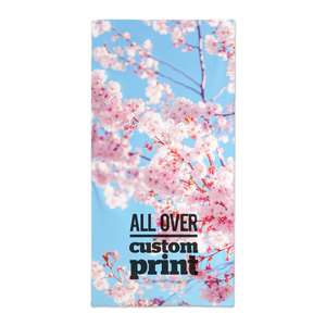 Custom printed microfibre bath or beach towel with custom printed photo design