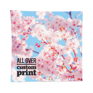 Custom printed square bandana with custom printed photo design