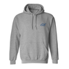 Custom embroidered hoodie with custom monogram initials embroidered on front