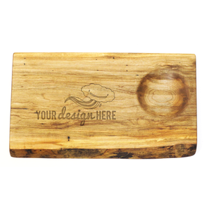 Canadian maple serving board from Stinson Studios with custom wood engraving
