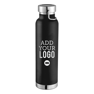 Custom engraved Thor Copper Vacuum Insulated Water Bottle 22oz Black