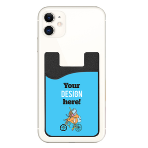 Custom phone wallet with custom printed graphic