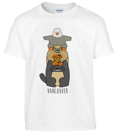 Cute Critter Vancouver Totem Make Original White T-Shirt Kids
