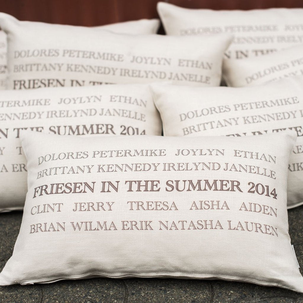 Custom Classic Print Family Reunion Pillow
