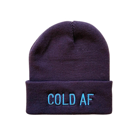 Cold AF Make Original Navy Cuffed Toque