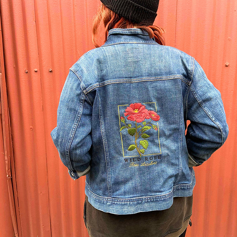 Custom Embroidered Jean Jacket