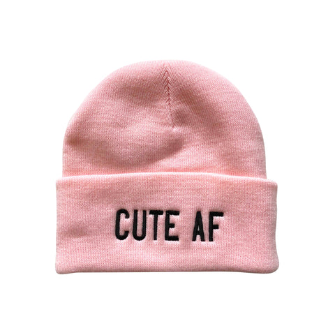 Cute AF Make Original Pink Cuffed Toque