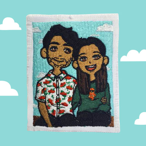 Custom Embroidered Couples Patch
