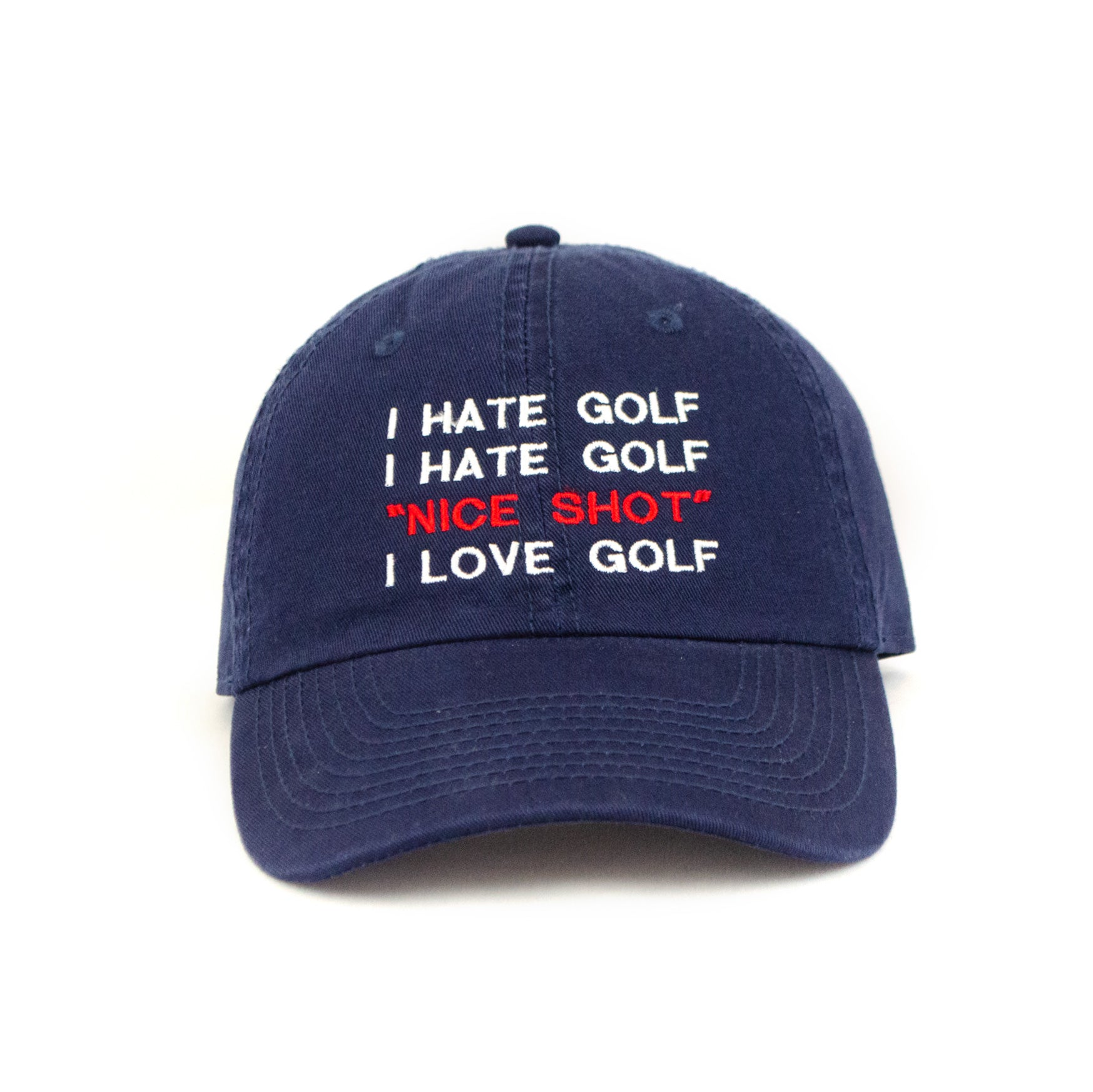 I Hate Golf Make Original Navy Chino Cap