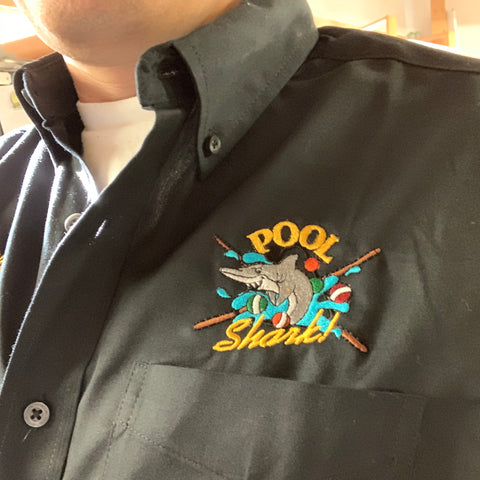 Pool Shark Stock Embroidery