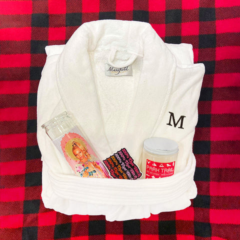 Custom Embroidered Monograms on Robes at MAKE