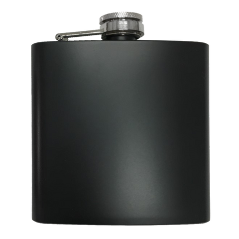 Flask - Stainless Steel 6oz Black Matte