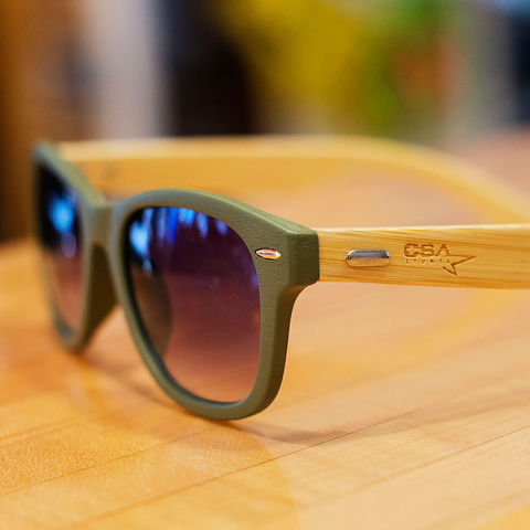 Bamboo Sunglasses with Laser Engraving